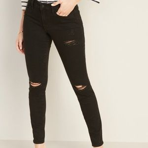 Mid-Rise Distressed Pop Icon Skinny Jeans Women